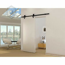 16FT  Barn Door Hardware diamond  Hardware Wood  Black Kit Sliding  Track