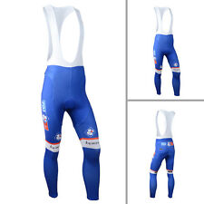 Hot Sale Mens Cycling Bib Tights Padded Cycle Long Trousers Leggings Pants Blue