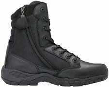 MAGNUM MENS VIPER PRO 8.0 SIDE YKK ZIPPER BOOTS SECURITY POLICE MILITARY BLACK