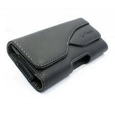 OEM LEATHER POUCH SIDE CASE COVER HOLSTER WITH SWIVEL BELT CLIP for SMARTPHONES