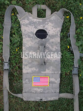 US Army ACU Water Hydration Carrier + 3 L Bladder Bag Back Pack USGI System POOR