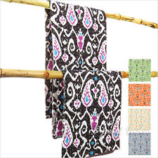 QUEEN IKAT KANTHA QUILT THROW TAPESTRY BLANKET BEDSPREAD Boho Bohemian Indian Hi