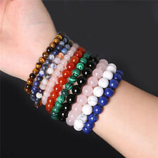 Fashion Natural Stone Beads Spot Healing Stone Bangle Bracelet 1WA