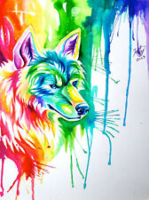 Modern Home Decor HD Prints art oil painting canvas wall art Fantasy wolf NTD198