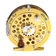 Aluminium 3/4 5/6 7/8Fly Fishing Reel Gear Spool Spinning Wheel Tackle 1:1 Gold