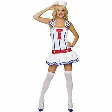 NWT ROMA FLIRTY FIRST MATE red white blue sexy sailor Halloween costume