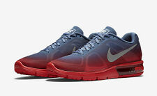 Mens Nike AIR MAX SEQUENT Running Shoes Red Blue SIZE 9.5