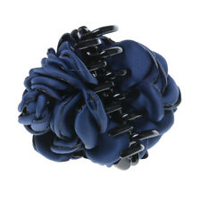 Vintage Fabric Rose Flower Hair Clamp Claw Clip Jaw Accessories Gift 4 Colors