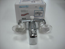 RV - Tub / Shower Faucet - Replacement w/ Spigot & Diverter - Brushed Nickel