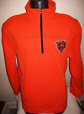 CHICAGO BEARS Pull Over 1/4 Zip Thick Cerrated Workout Jacket ORANGE S M L XL 2X