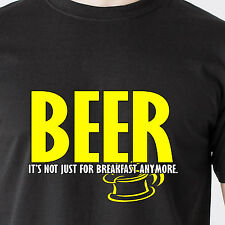 BEER It's not just for breakfast anymore. booze bar drink retro Funny T-Shirt