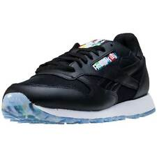 Reebok Cl Leather Bf Olympic Pack Mens Trainers Black New Shoes