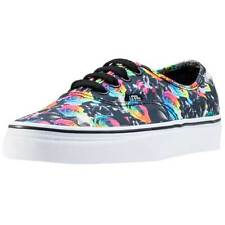 Vans Authentic Rainbow Womens Trainers Black Floral New Shoes