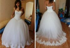 New Strapless Ball Bridal Gown Corset wedding dresses sleeveless custom size SC3