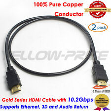 High Speed with Ethernet 3D HDMI CABLE For PS4 HDTV XBOX LCD HD Full 1080P DVD