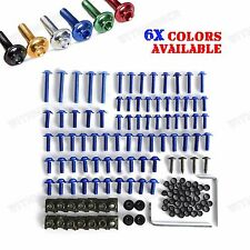 Universal Sportbikes Motorcycle Fairing Bolts Kit Fastener Clips Screw Spanner