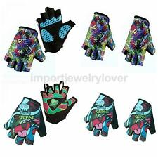 New Fingerless Sports Cycling Bicycle Gloves Gel Palm Half Finger Gloves