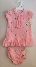 NEW WITH TAG RALPH LAUREN POLO BABY GIRL DRESS 3 MONTHS