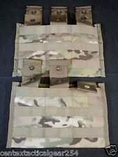 (2) ARMY ISSUE TRIPLE MAGAZINE POUCH 3 MAG SIDE X SIDE SHINGLE MOLLE II SET x2