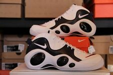 2008 Nike Air ZOOM FLIGHT PREMIUM 95 JASON KIDD WHITE NAVY BLUE RED (317810-141)