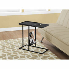 Monarch Specialties Metal Accent Snack Table with Magazine Rack