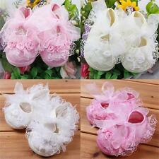Baby Infant Toddler Girls Princess Non-Slip Lace Frilly Flower Lovely Shoes HOT