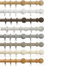 Universal Ball - 35mm Wooden Curtain Pole Sets