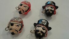 Peruvian Ceramic Pirate Captain First Mate Jolly Roger Bead Single OR Lot Five