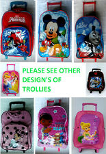 NEW CHILDREN TROLLEY BAG DISNEY, MARVEL & TV CHARACTERS WITH TAG