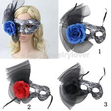 Venetian Eye Face Mask Lace Flower Masquerade Carnival Halloween Party 3 Colors