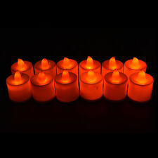 12X Candles Tealight Led Tea Light Flameless Flickering Wedding With Battery GT