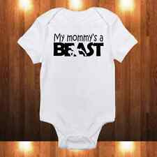"""My Mommy's a Beast"" Onesie - Fitness Enthusiast Workout Baby Girl/Boy Bodysuit"