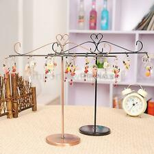Classic Style T shape Jewelry Necklace Bracelet Display Stand Organizer 2 color