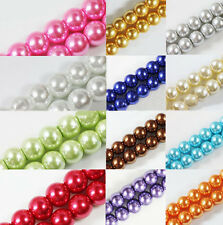 Wholesale Glass Pearl Round Spacer Loose Beads 4mm/6mm/8mm/10mm /12mm