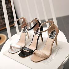 Patent Leather High Heels Sandals Ankle Strap Peep Toe Sexy Women Stiletto Shoes