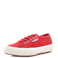 Boys Girls Kids Superga 2750 JCOT Red Lace Up Canvas Shoes Trainers Shu Size