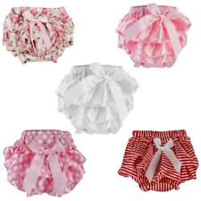 Ruffle FRILLY Pants Nappy Cover Bloomers Pettiskirt For 0-6M Baby Girl's Toddler