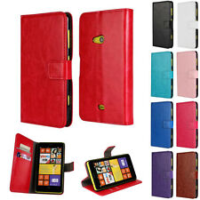 For Nokia Lumia 625 NEW Magnetic Flip Stand Wallet Card Case PU Leather Cover