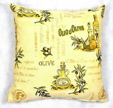NATURAL OLIVE OIL TREE 18x18in WOVEN TAPESTRY CUSHION COVER - UK MADE (45x45cm)