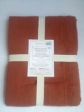 Williams Sonoma Linen Double Hemstitch Tablecloth 70 x 90 / 70x108 Ginger Bread