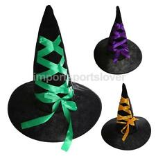Ladies Large Black Witches Hat Tall Womens Fancy Dress Costume Accessory