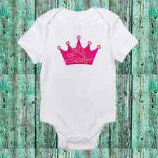 Adorable Little Sister Princess Crown - Cute Pink Baby Girl Clothes Onesie