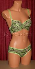 Lingerie-Sexy Underwire~Push Up Bra & Panty Set-Green~34, 36, 38 B & C Cups
