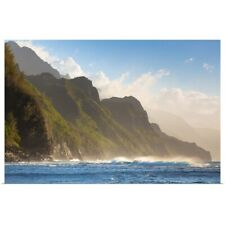 Poster Print Wall Art entitled Na Pali coast, west shore of Kauai, Hawaii