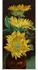 Poster Print Wall Art entitled Sunflowers Painting