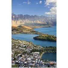 Poster Print Wall Art entitled New Zealand, South Island, View towards