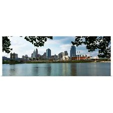 Poster Print Wall Art entitled City at the waterfront, Ohio River, Cincinnati,
