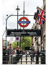 Poster Print Wall Art entitled Westminster Station Underground, London