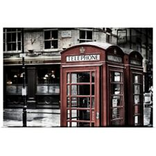 Poster Print Wall Art entitled Red Telephone Booths, London