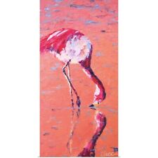 Poster Print Wall Art entitled Flamingo